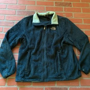 The North Face Fuzzy XL Zip Up Teal Jacket Coat